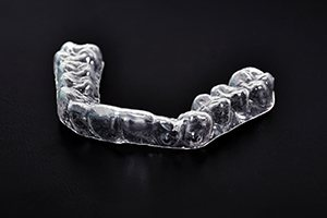 Clear nightguard for bruxism