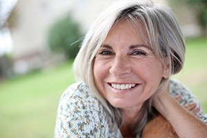 Older woman with healthy smile