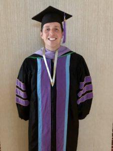 Dr. Vanderbrook after receiving his FAGD.